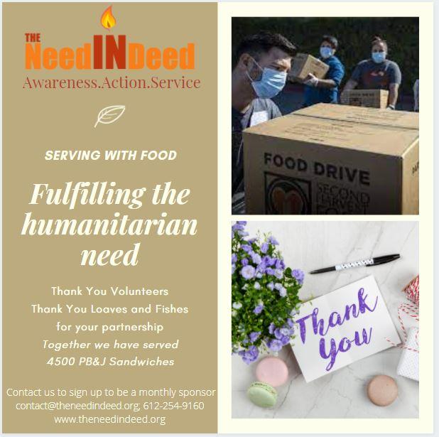 fulfilling the humanitarian need