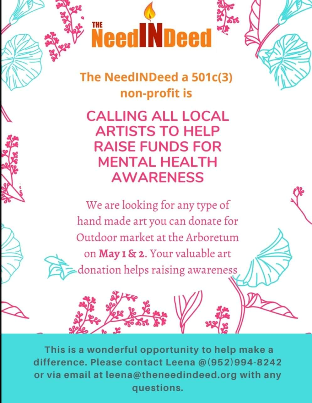 donate your art flyer