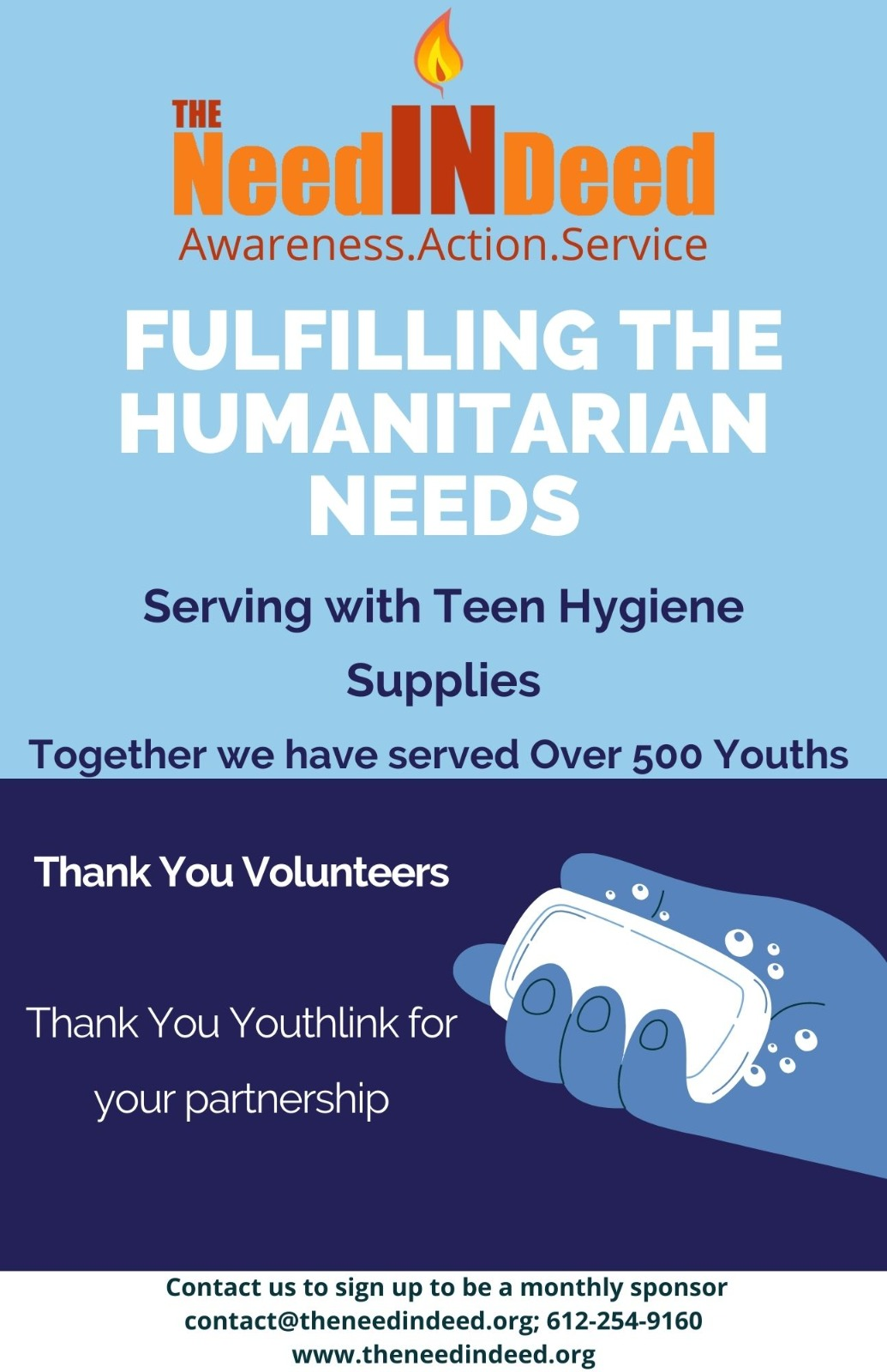 serving with teen hygiene