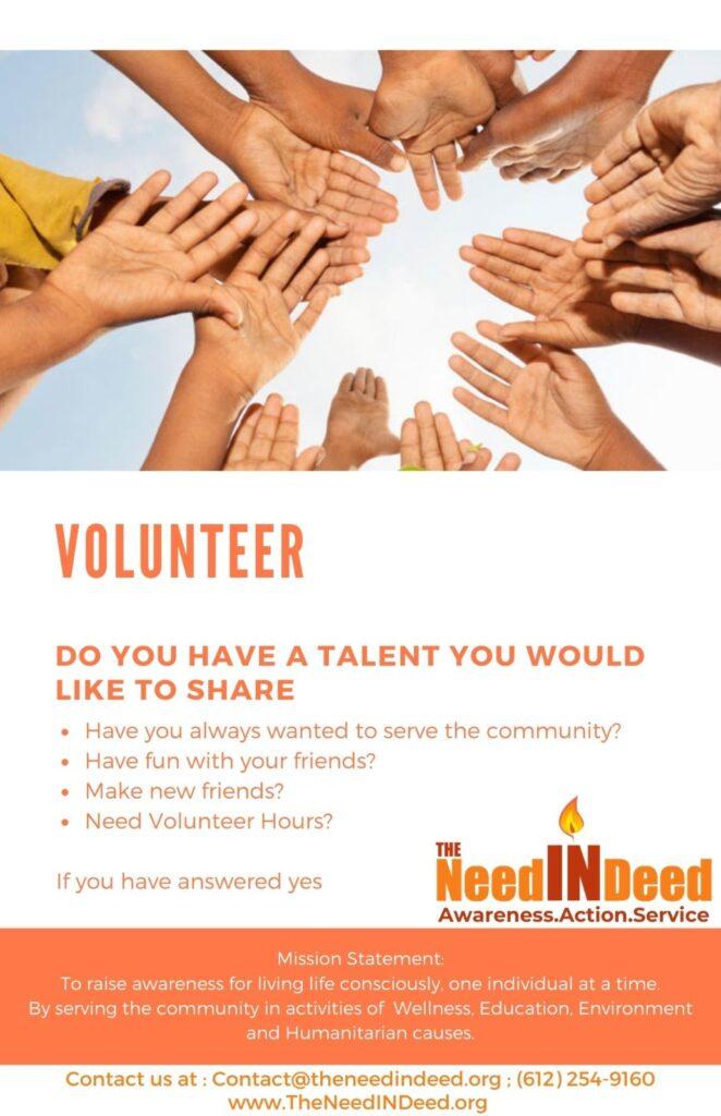 be our volunteer theneedindeed